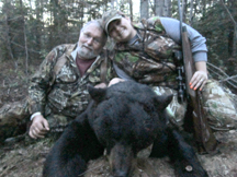 Amanda and her dad Harry from Maine tagged this black Bear