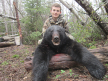 Alex's 1st bear ever,250 lbs