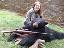Laura show off her black bear
