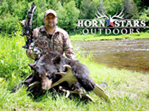 Matt, from Horn Stars Outdoors is successful bow hunting black bear