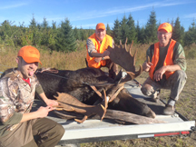 Jim with Taxis River Guide Dale showing off 20pt bull moose