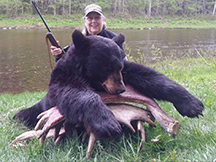 Ann's 3rd sucessful black bear hunt at at taxis river outfitters
