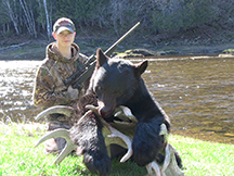 Gordon Wood JR 1st bear hunt at taxis river outfitters