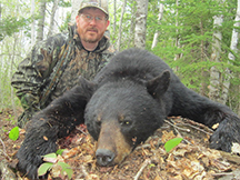 Mark's first spring black bear hunt at taxis river outfitters