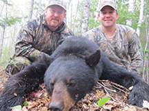 Mark and Jeremy bear hunting at Taxix River Outfitters