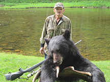 Francis first black bear hunting trip at taxis river outfitters
