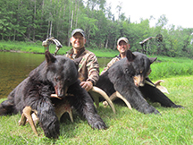 Fifth black bear hunting trip for Hornstars, Cris and Craig at taxis river outfitters